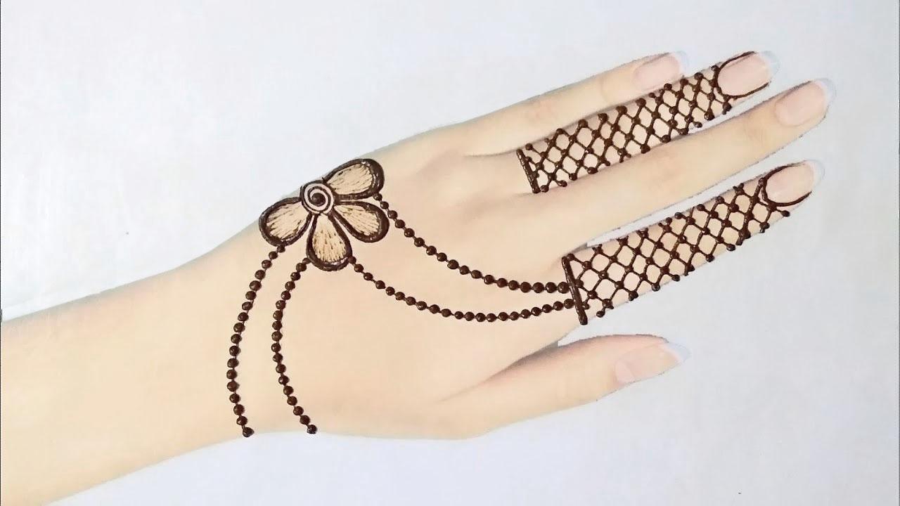 Simple Stylish Jewellery Mehndi Design