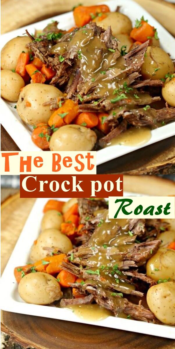 The Best Crock pot Roast Recipe #dinnerrecipes