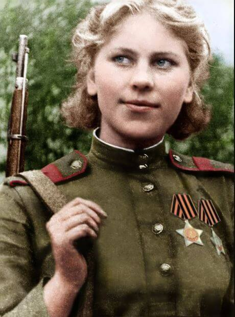 Russian woman who defeated the Germans
