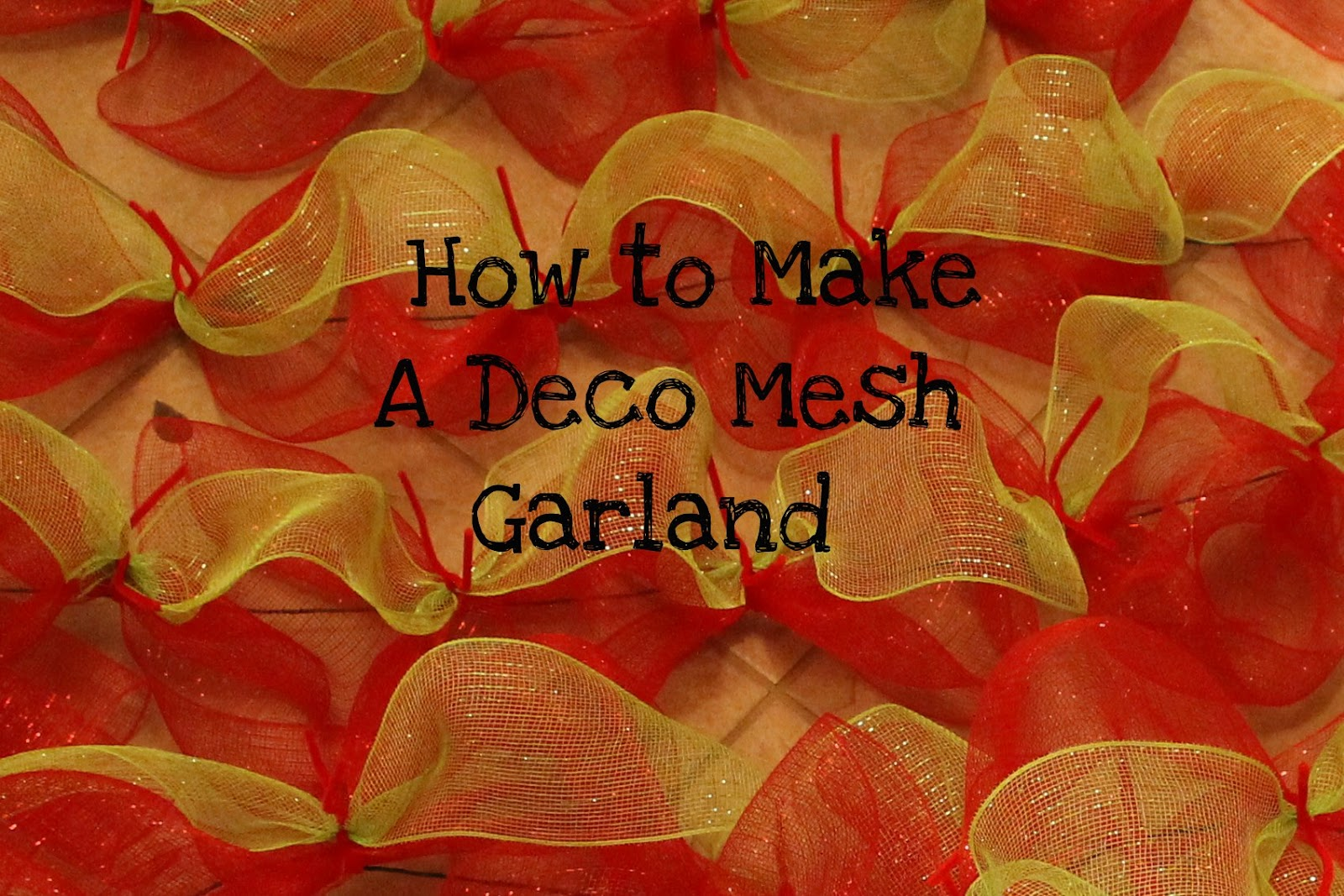 how to make a deco mesh garland miss kopy kat - How To Decorate A Staircase For Christmas With Deco Mesh