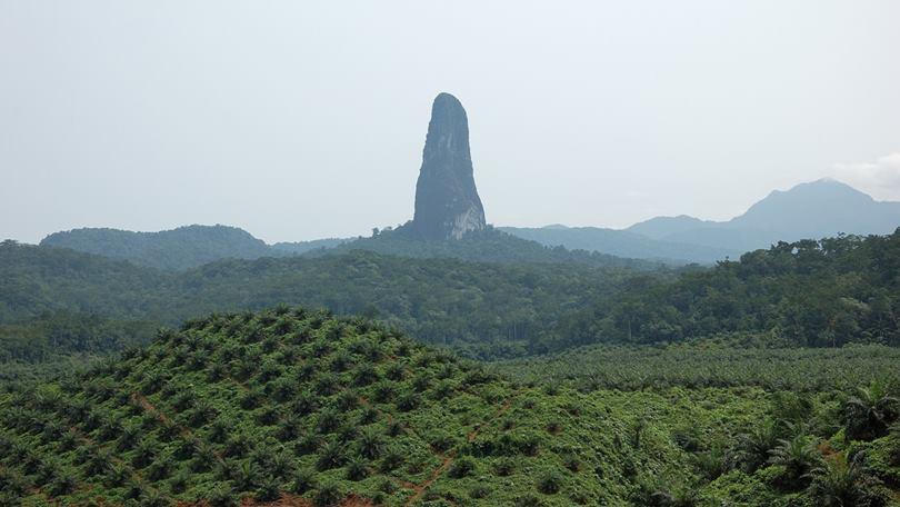 Pico Cao Grande volcanic cone on the island of São Tomé and Príncipe