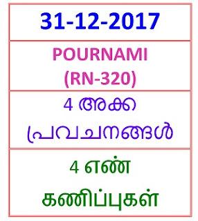 31-12-2017 4 NOS Predictions POURNAMI (RN-320)