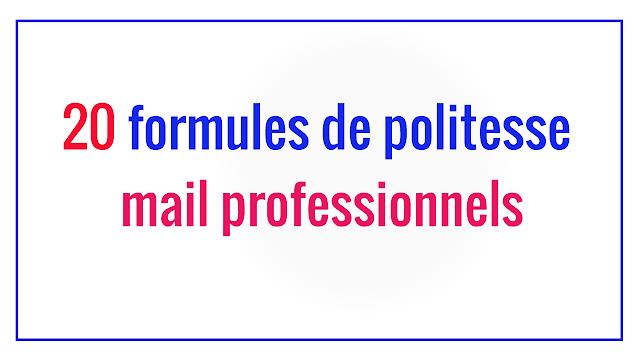 20 formules de politesse mail professionnel