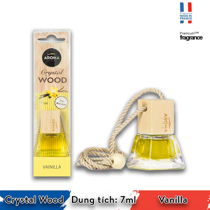 Tinh dầu treo ô tô Aroma Car Crystal Wood 7ml - Vanilla
