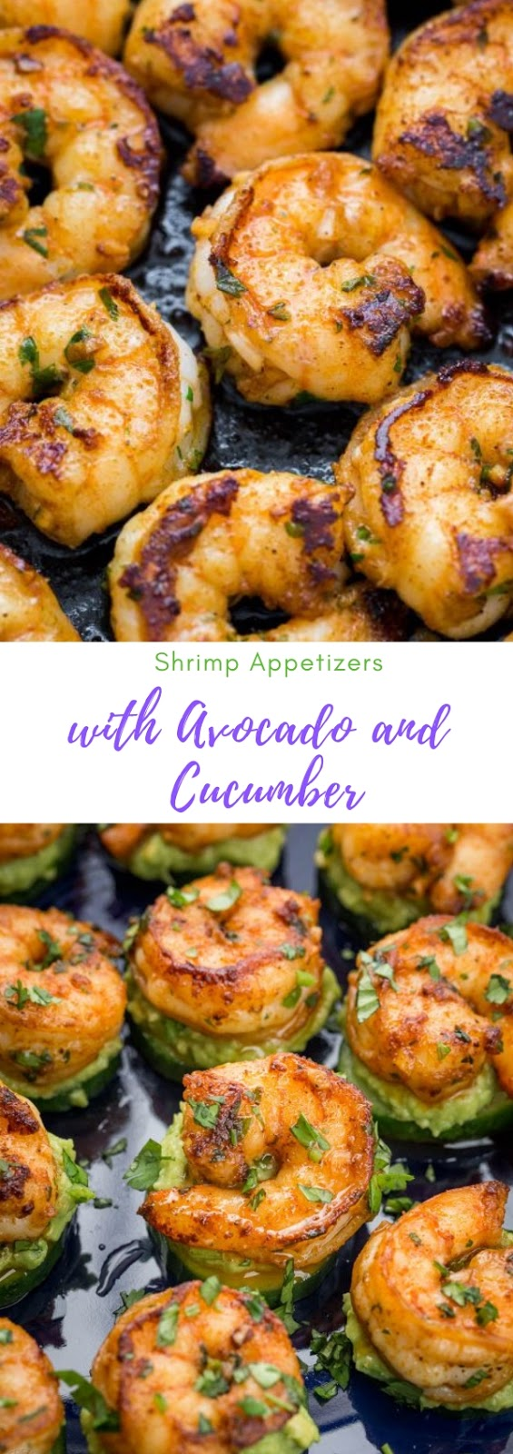 Shrimp Appetizers with Avocado and Cucumber #shrimp #appetizer #avocado #cucumbar #vegan