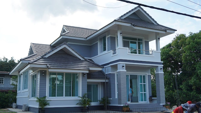แบบบ้านสีเทา