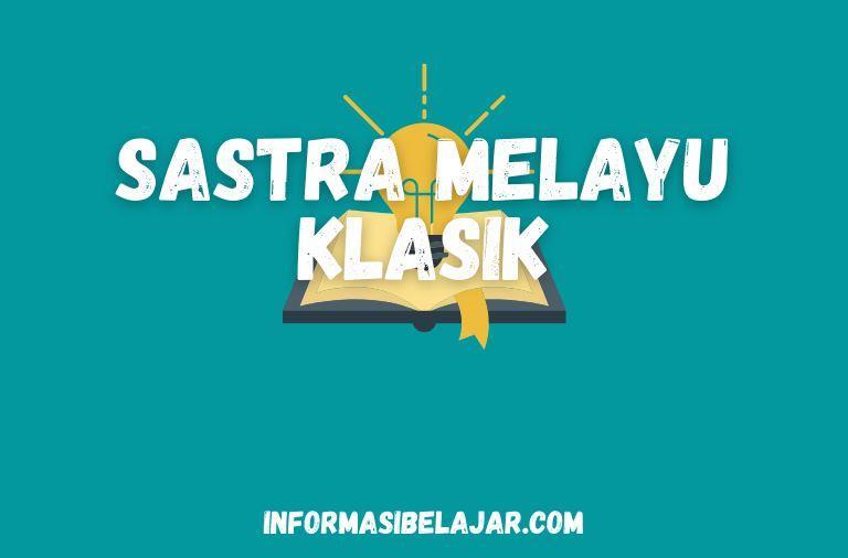 Jenis –Jenis Sastra Melayu Klasik