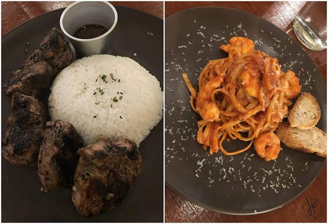 Pallete Cafe Grilled Pork and Shrimp Pasta