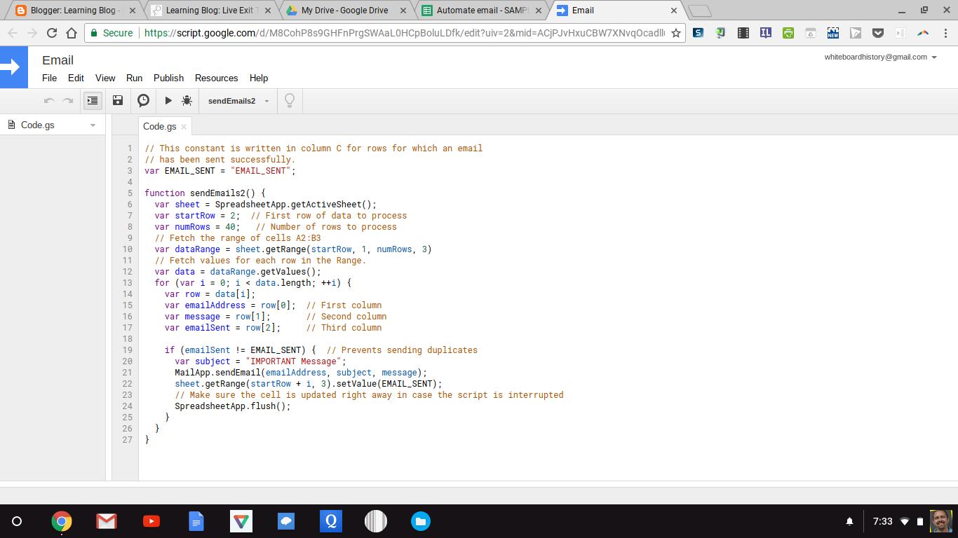 Learning Blog: Securing Live Google Sheets