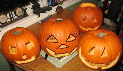 Foto de Calabazas con rostros por el día de Halloween
