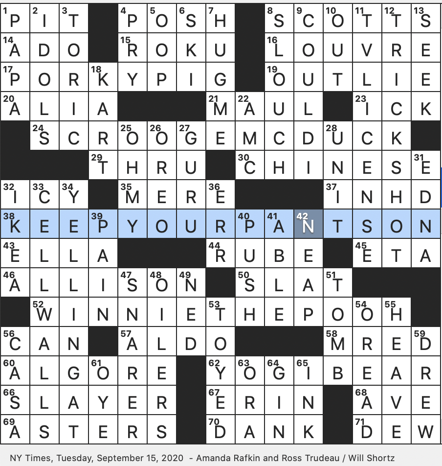 Rex Parker Does The Nyt Crossword Puzzle Mountain Nymph Tue 9 15 20 Giant In Media Streaming Disney Character Based On Dickens Character Like Gunpowder And Seismometer By Origin