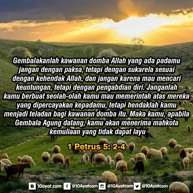 1 Petrus 5: 2-4