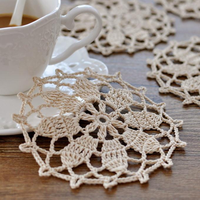 Crochet Flower Coaster Pattern - Beautiful & Easy