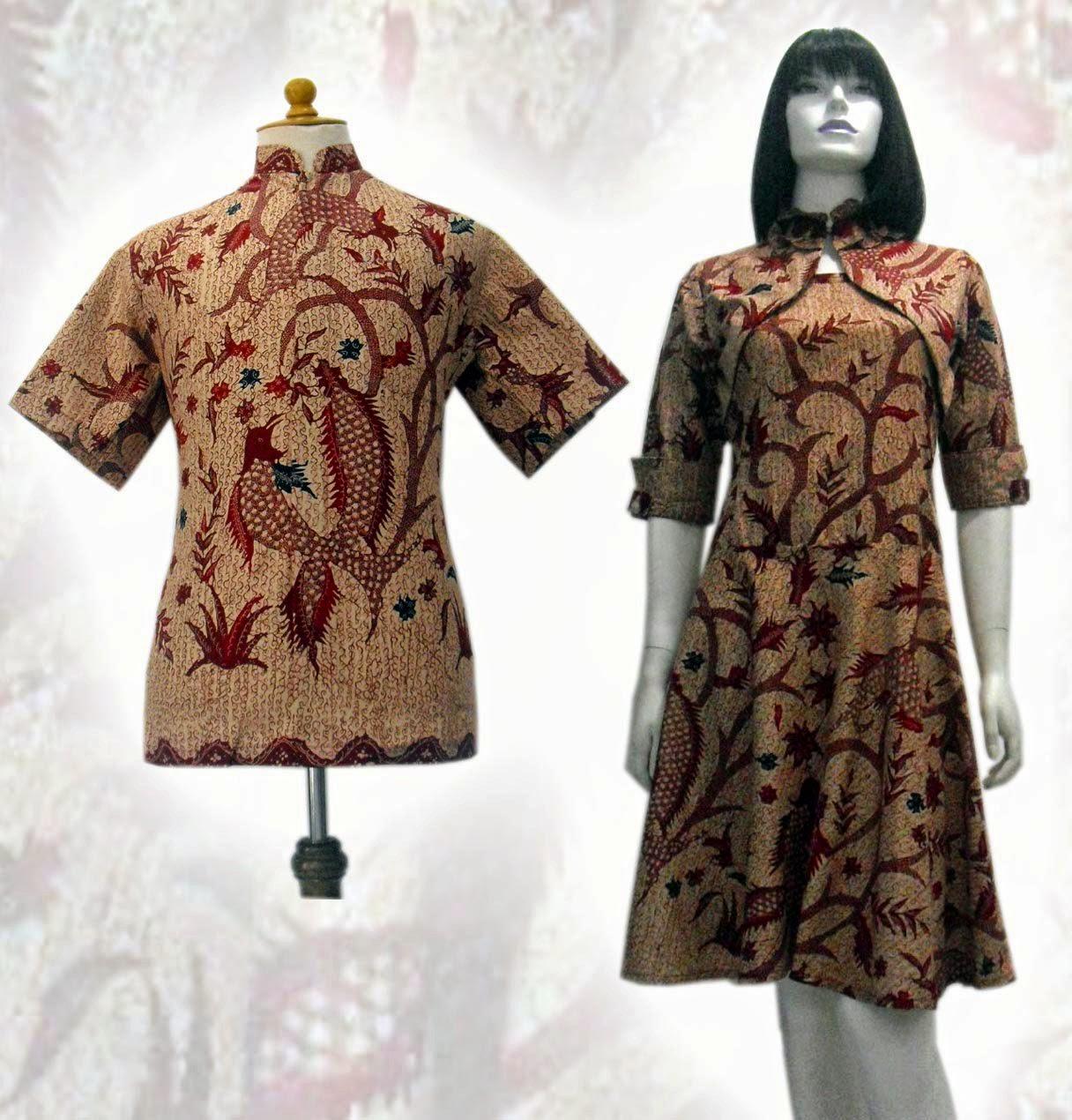 Gambar Baju Batik Kantor Pria: 10 Model Baju Batik Modern Pria Dan Wanita Terbaru