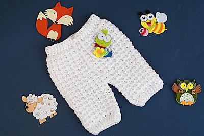 2 - Crochet Imagen Pantalones a crochet del conjunto blanco por Majovel Crochet