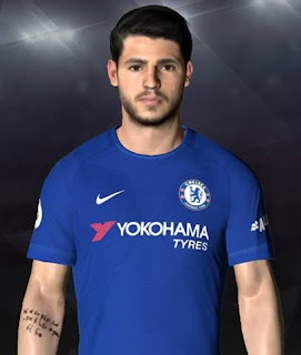 PES 2017 Face & Tattoo Alvaro Morata by Facemaker Ahmed El Shenawy
