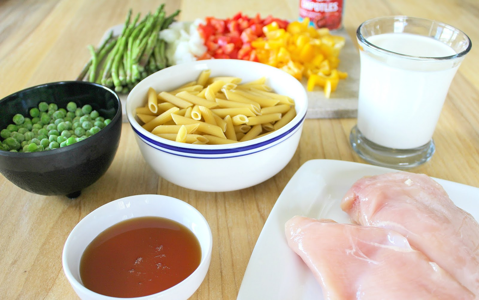 ingredients for chicken chipotle pasta