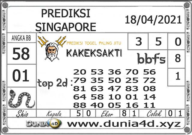 Prediksi Togel SINGAPORE DUNIA4D 18 APRIL 2021