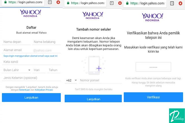 Cara Membuat Yahoo Mail Lewat HP