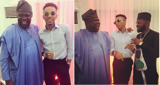 Falz & Tekno poses for a picture with Governor Ambode at an event.