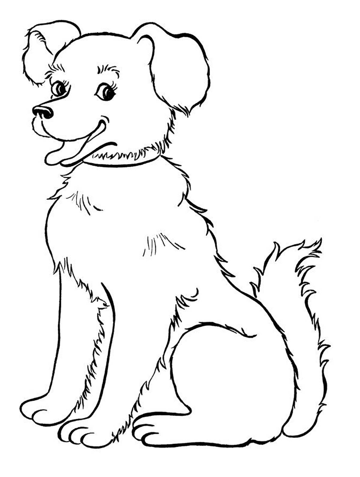 Dogs coloring pages 73