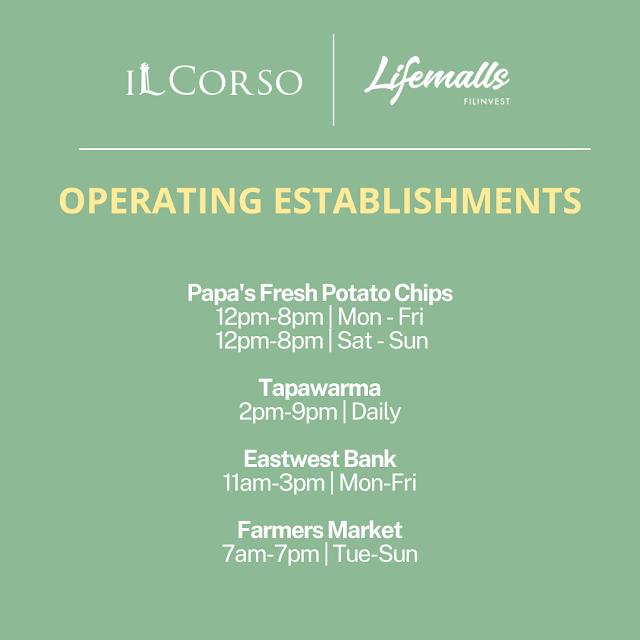 IL Corso Food Yard Operating Hours Papa's Fresh Potato Chips