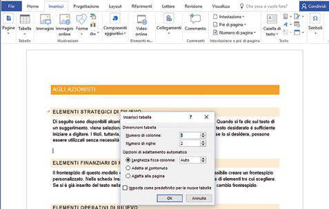 Come creare Tabelle in Word