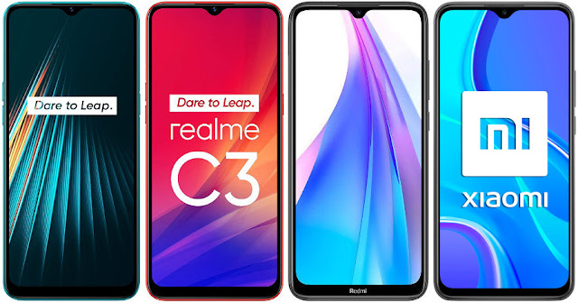 Realme 5i vs Realme C3 vs Redmi Note 8T vs Redmi 9