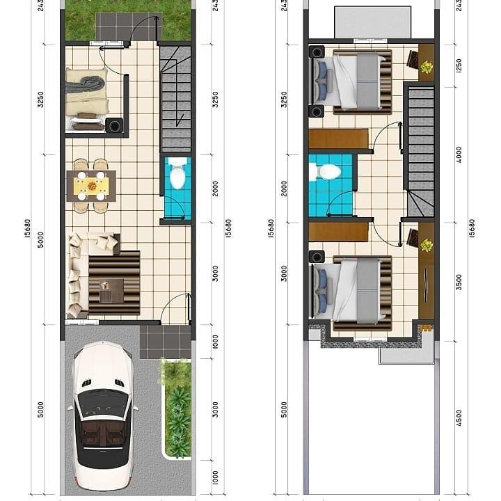 Denah Rumah Lebar 4 Meter