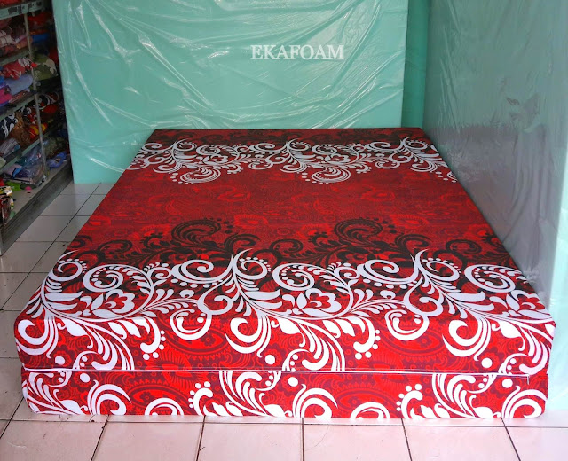 Kasur inoac motif Savoy merah maroon