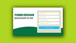 Form Design With CSS Backdrop Filter