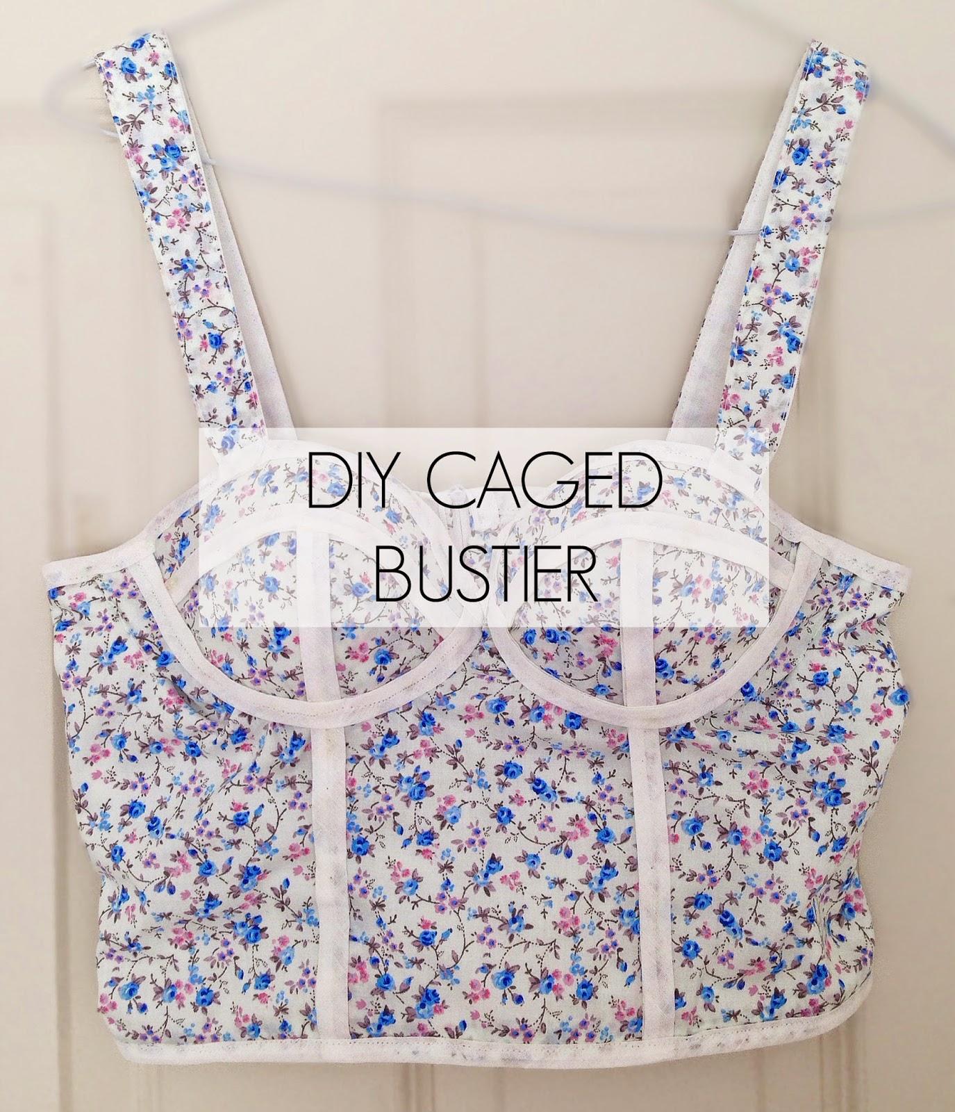 diy caged bustier