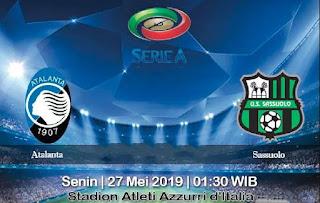 Prediksi Atalanta Vs Sassuolo 27 Mei 2019