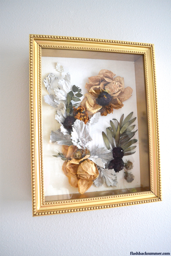 Flashback Summer: Dried Flower Shadow Box DIY tutorial