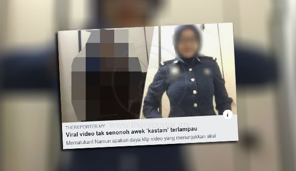 Padah viralkan video 'awek' kastam terlampau, bekas kekasih mangsa ditahan polis