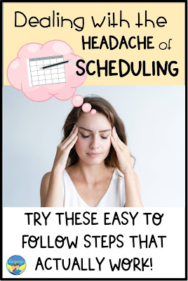 Use the LLL color coded sticky note scheduling method!