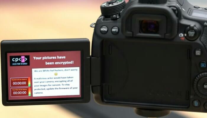 Canon DSLR Ransomware attack