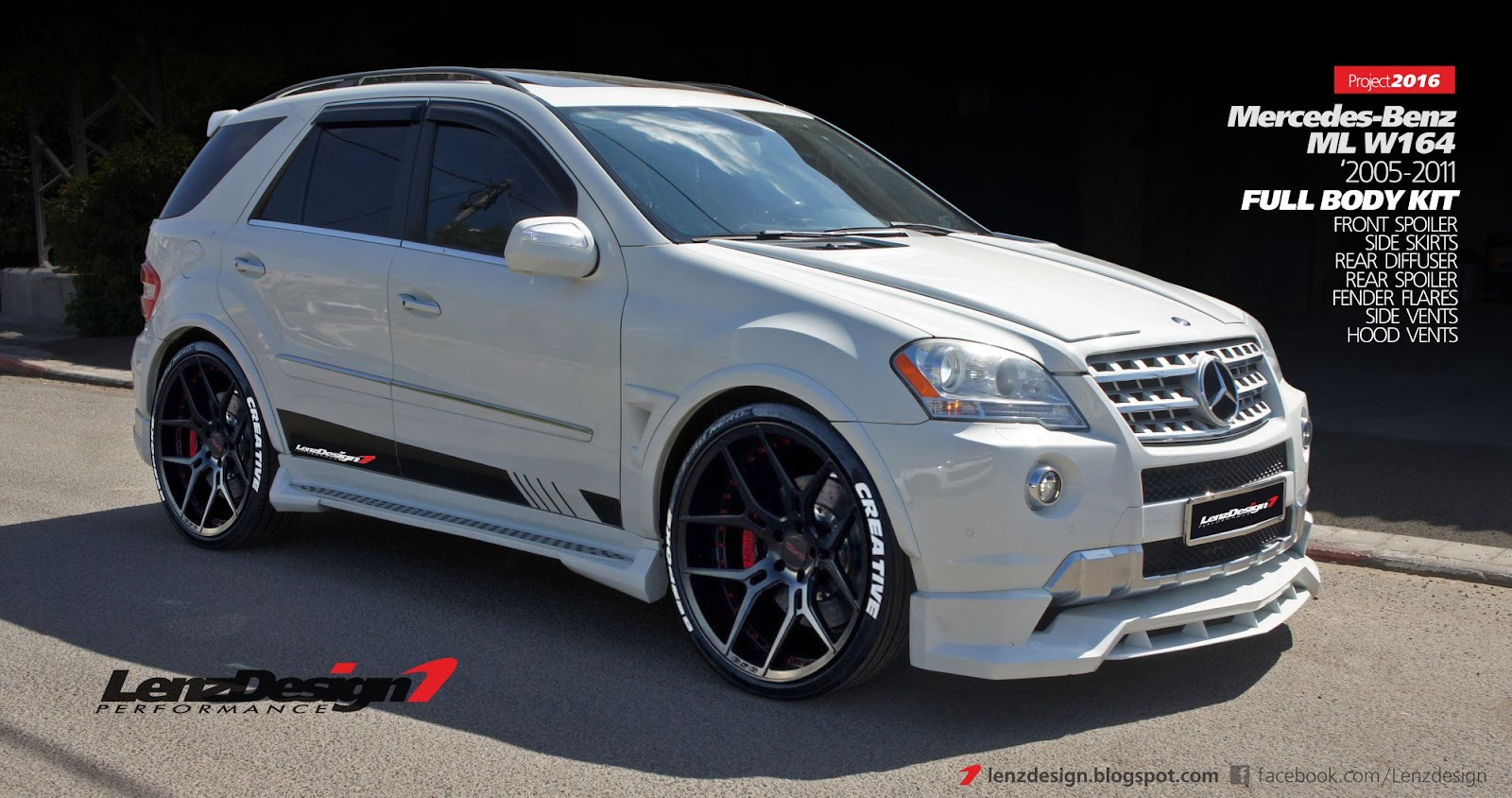 mercedes benz ml w164 tuning wide body kit lenzdesign performance. Black Bedroom Furniture Sets. Home Design Ideas