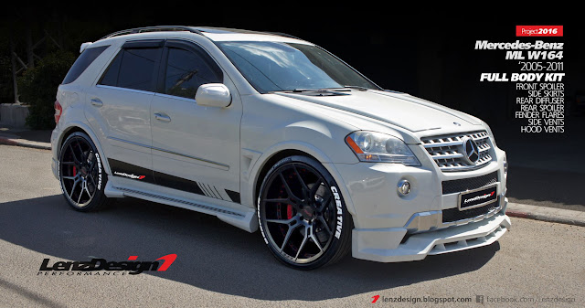 mercedes-benz ml w164 tuning - wide body kit lenzdesign performance