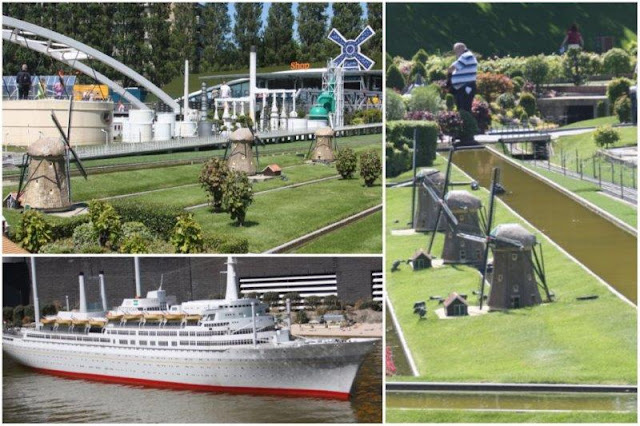 60 Red de molinos Kinderdijk – SS Rotterdam en el Europoort en el parque Madurodam en La Haya Den Haag