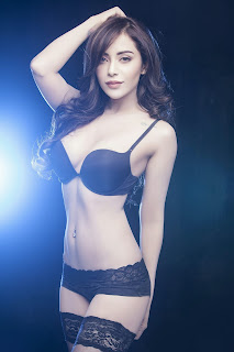 Angela Krislinzki Looks Beautiful in Black