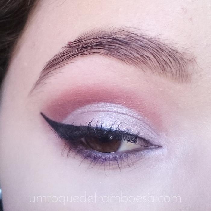 Tutorial de maquiagem para casamento de dia: cut crease fechado lilás e vinho