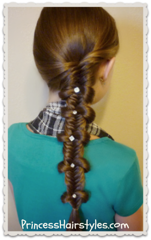 bow tie fishtail braid, back to school hair