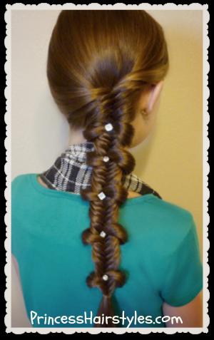 Magnificent Fishtail Bow Tie Braid Hairstyle Hairstyles For Girls Princess Short Hairstyles Gunalazisus