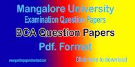 BCA Question Papers- Mangalore University