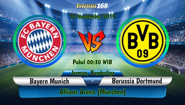 Prediksi Bayern Munchen vs Borussia Dortmund 11 November 2019