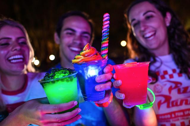 Disney World H20 Glow Nights mix drinks