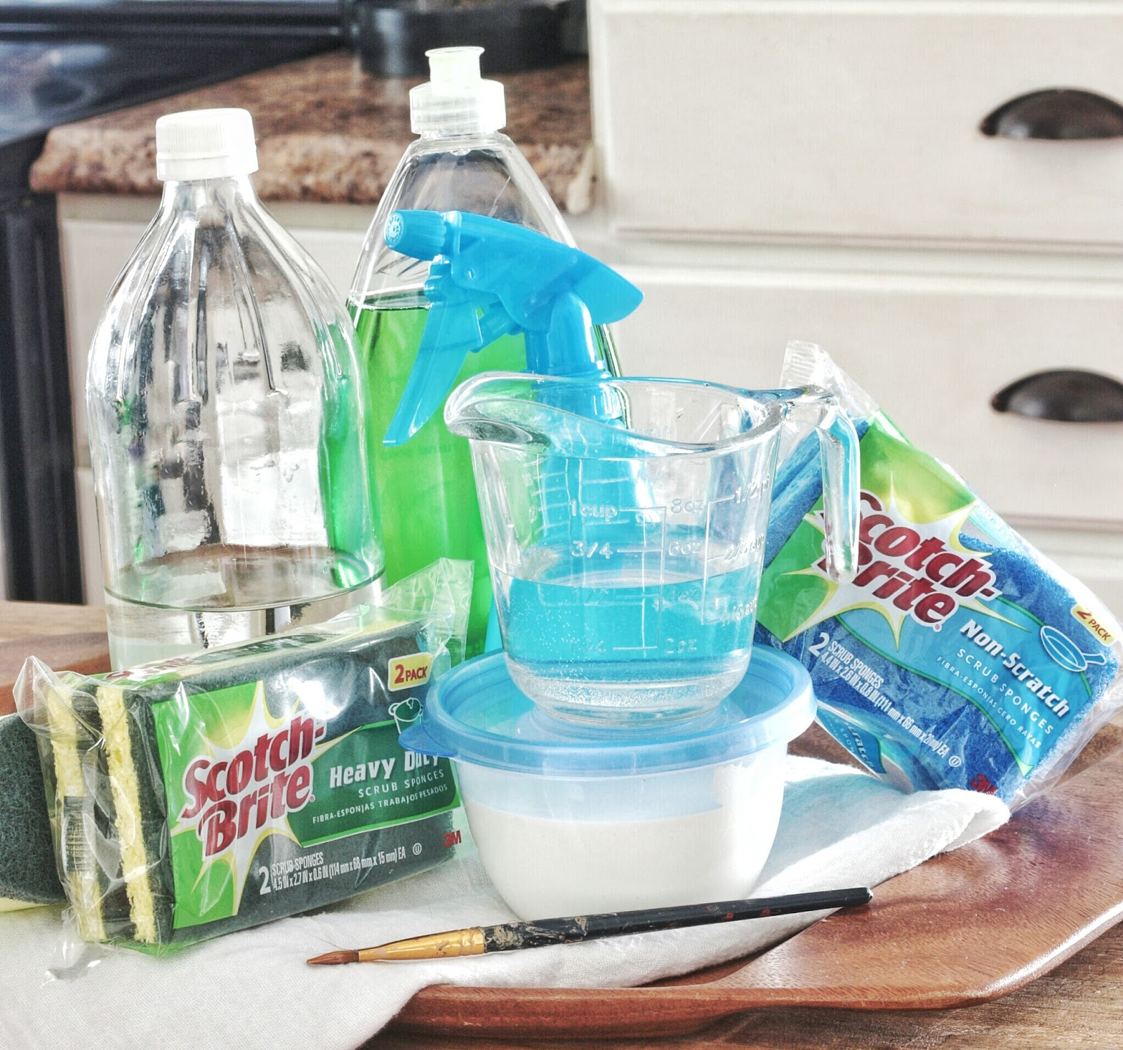 """Cleaning Kitchen Cabinets With Vinegar: How To Keep Those Painted Cabinets """"Brite"""" And White With"""