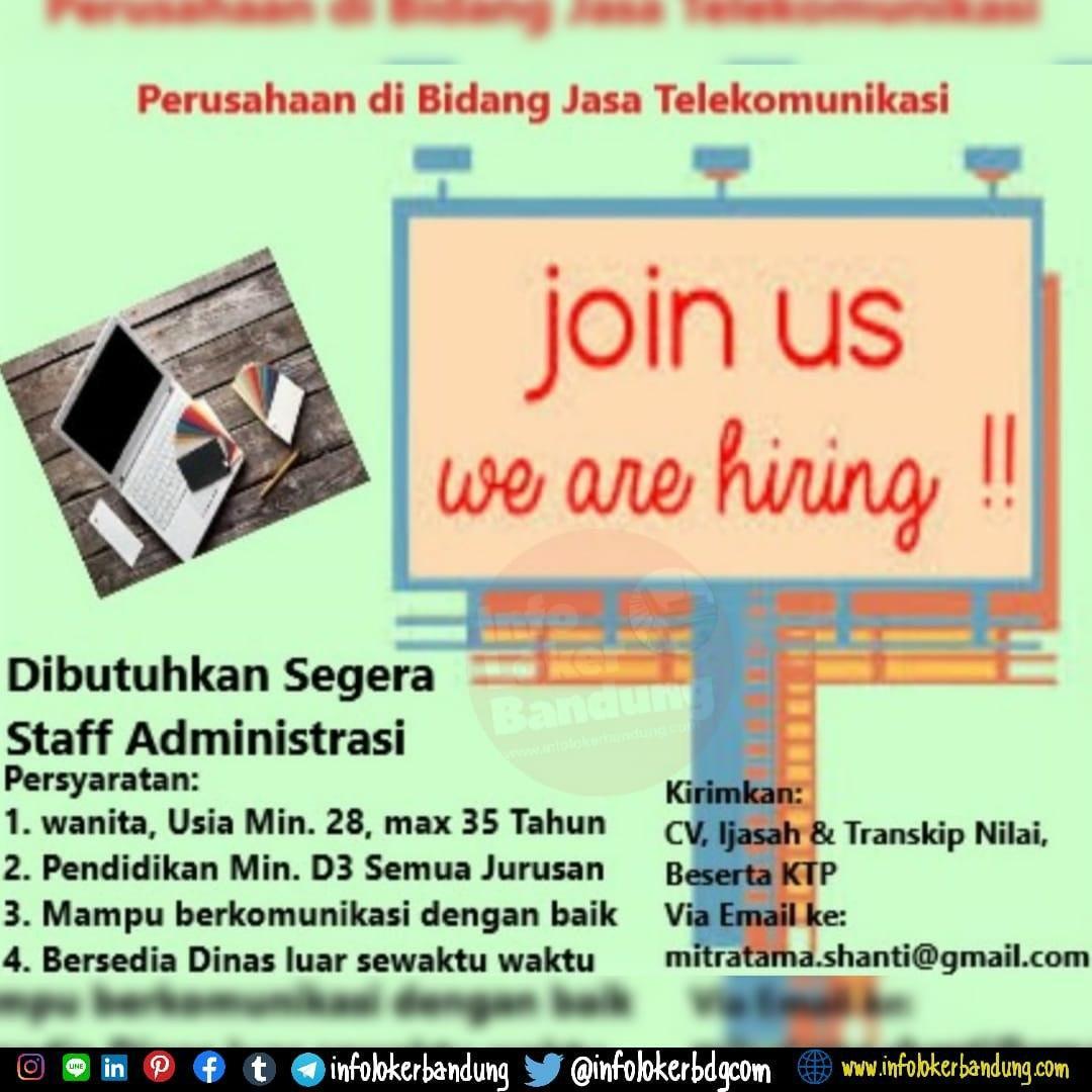 Lowongan Kerja Staf Administrasi CV. Mitratama Bandung Maret 2020