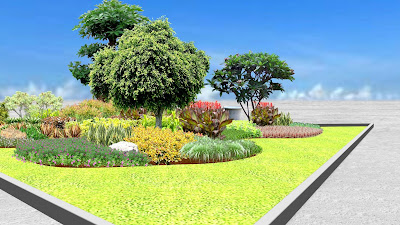 Desain Taman Median Jalan oleh Jasa Tukang Taman Surabaya